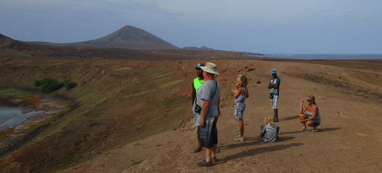 Utsikten från vulkankratern