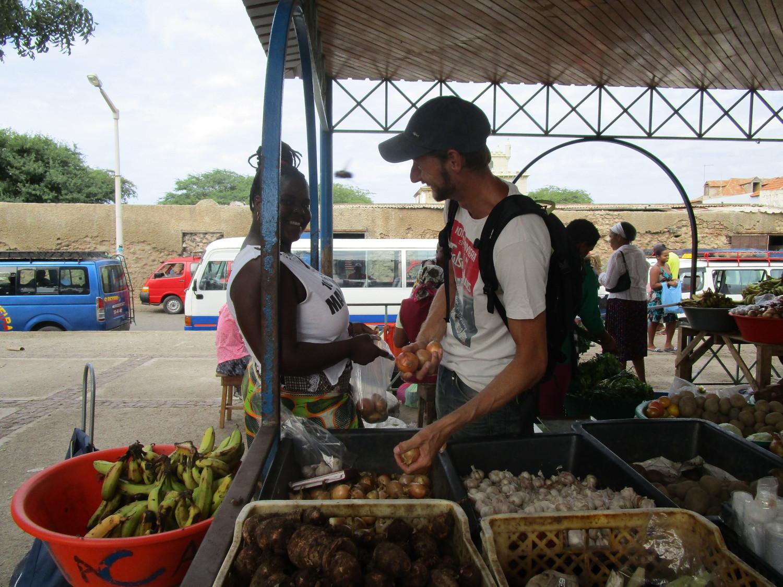 Fruktmarknad i Mindelo