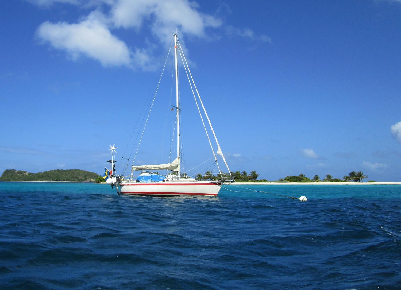 Anna Lisa vid Sandy Island