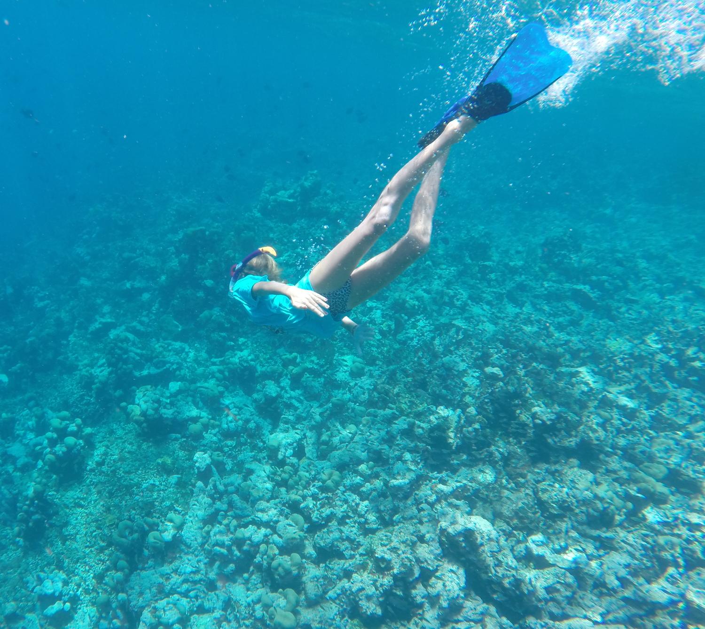 Mathilda på djupet, det var här hon såg hajarna