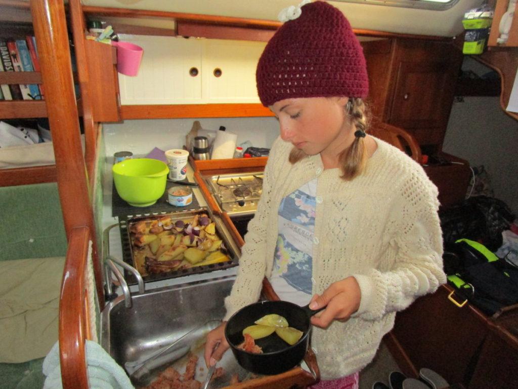 Matlagning under gång.