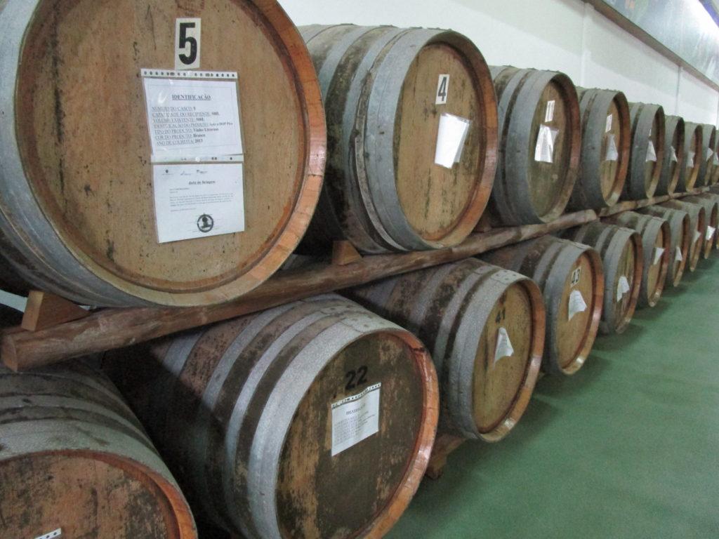 Vinet lagras