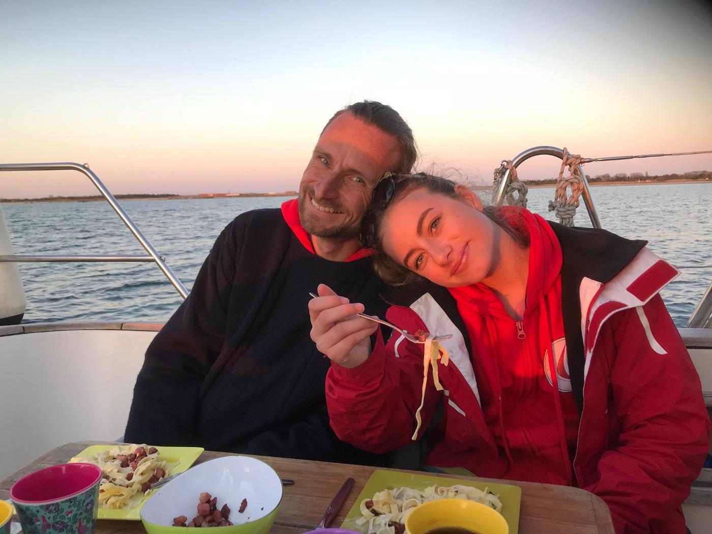 Thomas och Mathilda solnedgång
